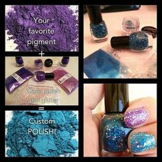 Use our pigments to create your Younique nail polish!!! Our versatile pigments can be used for all sorts of things. Nail polish is just one of those things you can make with our pigment colors.