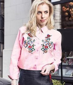 Camasa dama cu broderie Floral Tops, Blouse, Long Sleeve, Casual, Sleeves, Women, Fashion, Embroidery, Moda