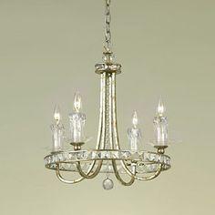Candice Olson 7450-4H 4 Light Aristocrat Mini Chandelier, Soft Gold - Lighting Universe