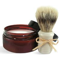 DIY Soap Making Recipe - Travel Mens Shave Soap. Excellent handmade gift for guys.