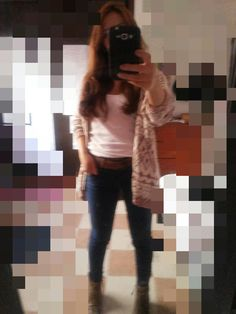 Casual outfit... #cardigan#boots#cool#nice
