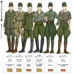 WWII japanese uniforms