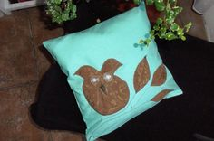 Decorative cover for pillows OWL - 11 x