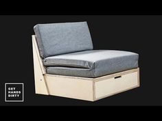 How to Make a Sofa Bed - YouTube -- This piece of furniture has so many functions, takes up very little space and looks good. I don't know how it gets better than that!