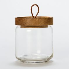 Teak Honey Jar