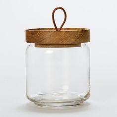 Teak Honey Jar