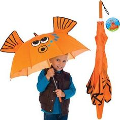 11.75$  Buy now - http://viwpt.justgood.pw/vig/item.php?t=hv0i3qy38123 - Goldfish Gold Fish Manual Stick Kids Umbrella Childrens Outdoor 11.75$