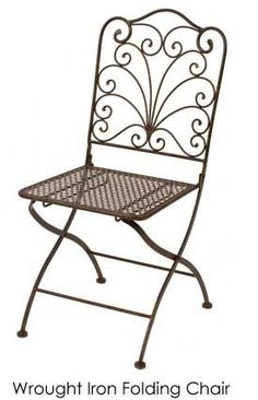 Wrought Iron Folding Chair | Town & Country Event Rentals