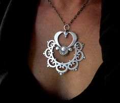 Pendant | Sasha Bell.  Sterling silver...... love this