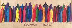 Tableau réalisé pour le Groupement d'artistes Intensité