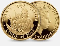 The London 2012 Gold Series - 'Diana'. Faster 2010 Quarter-Ounce