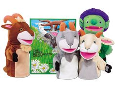 This is always one of my kids' favorite books- this would be great to have them help tell the story with the puppets! The Three Billy Goats Gruff Storytelling Puppet Set #LakeshoreDreamClassroom