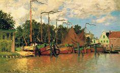 Клод Моне - Boats at Zaandam, 1871