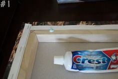Toothpaste to hang pictures. Add dab to back of picture where nail will go. Find the perfect place to hang, press picture against wall so toothpaste leaves mark. Hammer nail on spot. Great technique for hanging pictures in a straight row, or as a collage. Do It Yourself Baby, Tips & Tricks, Home Hacks, Survival Tips, Urban Survival, Home Organization, Decorating Tips, Interior Decorating, Good To Know