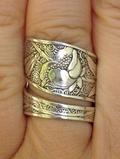 Vintage Towle Sterling Silver Spoon Ring. Love!!!: