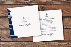 Maritime Einladungskarte. Quadratische Hochzeitskarte mit Anker. #Hochzeitskarten #Einladungskarten #CHILIPFEFFERdesign http://www.chilipfeffer-design.de/hochzeit/designs/index.html