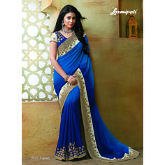 Bollywood actress replica Saree is designed with georgette fabric with Embroidery Work. Laxmipati Sarees, Georgette Sarees, Lehenga Choli, Georgette Fabric, Silk Sarees, Beautiful Saree, Beautiful Dresses, Beau Sari, Raw Silk Fabric