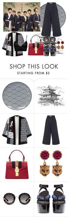 """VIXX Inspired Look"" by lucretiak on Polyvore featuring Tokyo Design Studio, River Island, Monse, Gucci, E L L E R Y, Fleur du Mal and vixx"