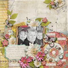 Digital Scrapbook Page Layout by Anita using the Chapter no 2 Slightly Worn Kit and the Lifetime Stories Collection along with Shabby Boho all from Etc by Danyale at The Lilypad #etcbydanyale #thelilypad #digitalscrapbooking #memorykeeping #lifestory #shabby