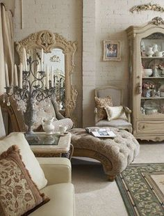 love the candelabra and the chaise!