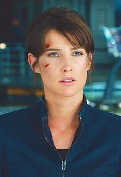 Cobie Smulders as Agent Maria Hill in the Avengers Movie