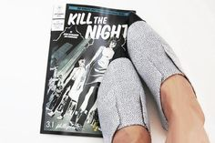 Two of my favorite things on earth - shoes and comic books. #killthenight