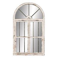 """Deco 79 74397 Wood Window Mirror 42""""H, 25""""W - Deco 79"""