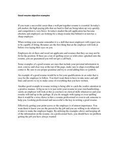 a resume letter