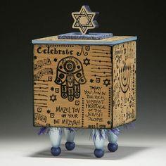 BOX Handmade Box Home Decor Bat Mitzvah Gift by TattooDreams, $80.00