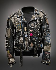 Image result for goth leather jacket custom