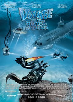 TITLE:VOYAGE TO THE BOTTOM OF THE SEA GENRE: ADVENTURE/SCI FI LOGLINE: On her maiden voyage the SSRN Seaview nuclear submarine, designed by Admiral Harriman Nelson and captained by Capt. Lee Crane, sets out on an oceanographic research mission but is plagued by the threat of a foreign nuclear attack, pollution of natural resources, theft of American technology and a fire-breathing monster all hell-bent on preventing the submarine and its crew from achieving its mission. Poster by Kevan R…