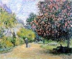 Claude Monet, Park Monceau, 1876 on ArtStack Claude Monet, Monet Paintings, Paintings I Love, Landscape Art, Landscape Paintings, Pierre Auguste Renoir, Classic Paintings, Impressionist Paintings, Realism Art