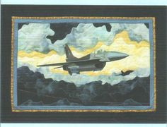 """In Jack's Memory"" by Crystal Clear Designs. Modified Lockheed Martin F-16 Jet."
