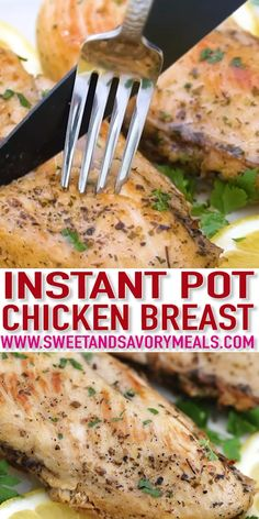 Instant Pot Chicken Breast is juicy, moist, and flavorful easily made using the pressure cooker. This dish comes handy whenever additional protein is needed for your diet! chicken recipes Instant Pot Chicken Breast Recipe - Sweet and Savory Meals Chicken Breast Recipe Video, Chicken Breast Instant Pot Recipes, Best Instant Pot Recipe, Instant Pot Dinner Recipes, Healthy Chicken Recipes, Side Dish Recipes, Keto Recipes, Recipes Dinner, Chicken Recipes Low Sodium