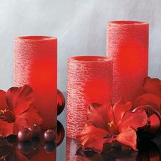 Great idea if you have pets or young children. Red Light Illusions LED Pillar Trio & Remote