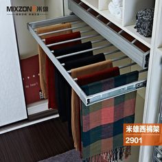 $21.49/Piece:buy wholesale Pull Out Adjustable Retractable Aluminum Alloy Closet Trouser Organizer Hanger Wardrobe Storage Pants Sliding Trousers Rack MIXZONE 2901 from DHgate.com,get worldwide delivery and buyer protection service.