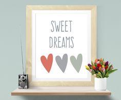 New Wandgestaltung Druck A Sweet Dreams Kinderzimmer Babyzimmer A ein Designerst ck von paperblooming bei DaWanda