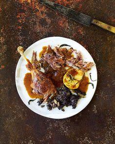 River Cottage chef Gill Meller shares his recipe for roast goose. Sage Recipes, Roast Recipes, Christmas Roast, Sage Sausage, Black Pudding, Cocktail Sticks, Roasting Tins, Fresh Chicken, Baked Apples