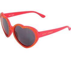 Betsey Johnson Red Heart Sunglasses (750 PHP) ❤ liked on Polyvore featuring accessories, eyewear, sunglasses, plastic sunglasses, betsey johnson, uv protection sunglasses, red heart glasses and uv protection glasses