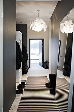 the mirror, the lamp, the runner, the wall colour, the walk-through closet! I want it all    via The Diversion Project