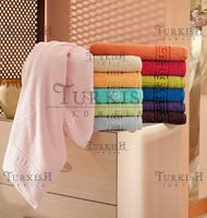 Squares on Polyester Border Towels