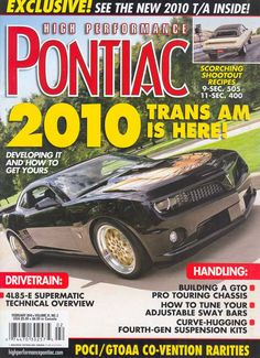 High Performance Pontiac Magazine : Magazines | Drive Away 2Day  http://blog.driveaway2day.com/2012/11/high-performance-pontiac-magazine.html