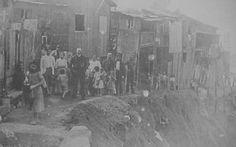 Imagem de uma das encostas da favela em 1920