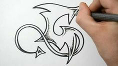 How to draw graffiti letter - G