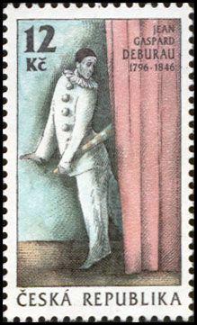 Jean-Gaspard Deburau (born Jan Kašpar Dvořák;[1] July 31, 1796 – June 17, 1846), sometimes erroneously called Debureau, was a celebrated Bohemian-French mime.  His most famous pantomimic creation was Pierrot—a character that served as the godfather of all the Pierrots of Romantic, Decadent, Symbolist, and early Modernist theater and art.