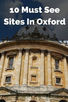 And so here is our guide to Oxford, the city of 'dreaming spires' and a world wide reputation for learning. #OxfordUK