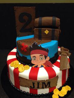 Jake the Neverland Pirates Edible Cake Decor on Etsy, $45.00