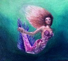 drawing, mermaid