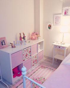 «Ben yine dayanamadım pempelere döndüm☺️ iyi aksamlar arkadaş lar #pembe #pink #pastel #vintage #room #roomforgirl #mybedroom #ikea #ikeadekor…»