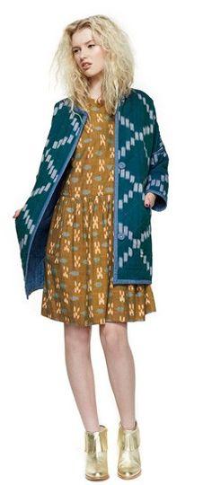 niagra ikat coat - gorman aw14